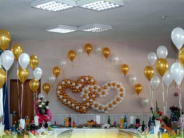 Комплексное оформление зала воздушными шарами