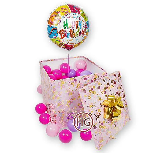 Упаковка подарков с шариками 965