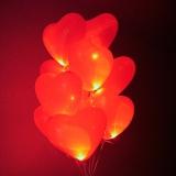 Облако из светящих шаров