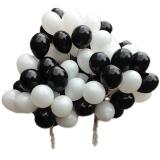 Облако из шаров (белые, чёрные)