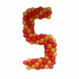 """Цифра из шаров """"5"""""""