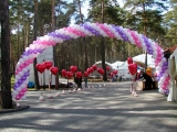 Уличное оформление воздушными шарами