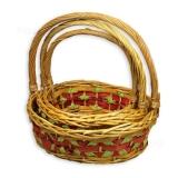 Плетёные корзины из ивы (комплект)