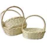 Корзины плетеные (белые, 3х)