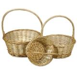 Плетеные корзинки из ивы (комплект)