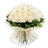 """Подарочная корзина """"Белые розы"""""""