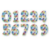 Цифры в ассортименте (цветные шары)