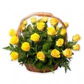 "Подарочная корзина ""Желтые розы"""