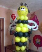 """Композиция из шаров """"Пчелка"""""""