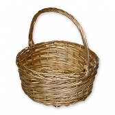 Плетеная корзина (большая, золото)