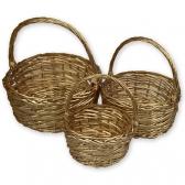 Корзины плетеные (комплект, золото)