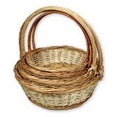 Плетеные корзины (белые, комплект)