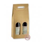 Упаковка под вино (золото, 2бут)
