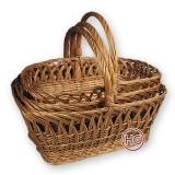 Корзины плетеные (комплект)