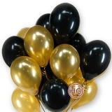 Облако из шаров (золотой, черный)