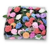 Розы из атласной ленты (ассорти)