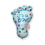 """Фольгированный шар """"Ножка мальчика"""""""