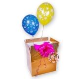 Коробка сюрприз с шарами