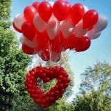 Запуск воздушных шаров (сердце)