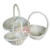 Корзины плетеные (белые, комплект)