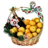 """Новогодняя подарочная корзина """"Мандариновая 2"""""""