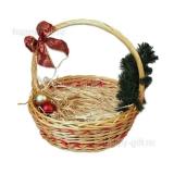 Корзина плетеная с декором