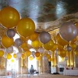 Шары под потолок (золото, серебро)