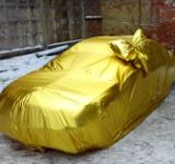 Золотая упаковка с бантом