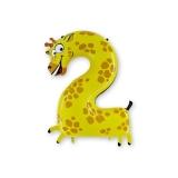 Цифра 2 (фольгированный шар)