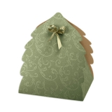 Коробка Portapanettone albero (Damascato Verde)