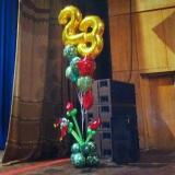 Композиция из шаров к 23 февраля