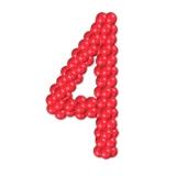 """Цифра из шаров """"4"""""""