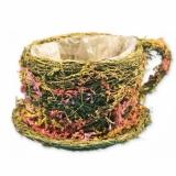Корзина плетеная с флористикой