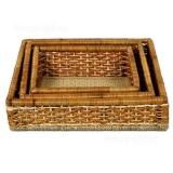 Плетёные лотки из ротанга (комплект)