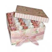 """Цветы в коробке """"Нежный подарок"""""""