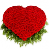 "Корзина с розами ""Сердечко"""