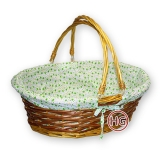 Плетеная корзина с декором (большая)