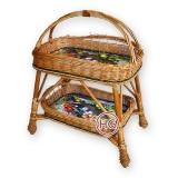 Плетеный столик
