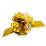Бант-шар (голограмма, металлик, золото)