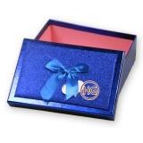 Коробки (синие, комплект с бантом)