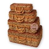 Плетеные чемоданы (комплект)