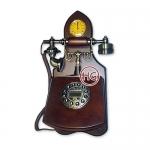 Настенный ретро-телефон с часами