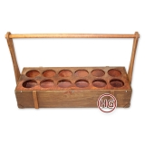 Деревянный ящик (12 ячеек)