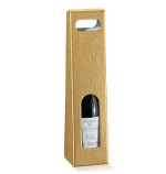 Упаковка под вино (золото, 1бут)