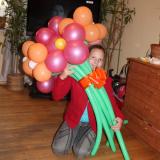 Букет из разноцветных шаров