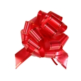Бант-шар (красный с золотой полосой)
