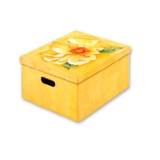 Подарочная коробка (желтая, с рисунком)