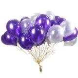 Облако шаров (белые, фиолетовые)