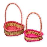 Плетёные корзины (сердечки, комплект)