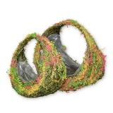 Травяная корзина кашпо